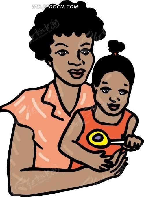 动漫黑人操乳_黑人妈妈抱着女儿