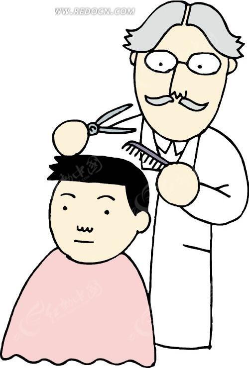 给小孩理发的卡通人物