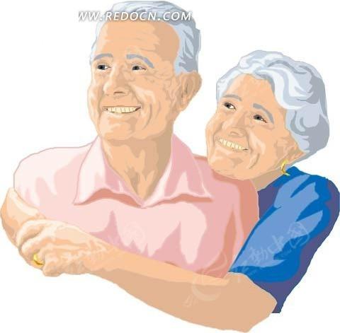 一对幸福的老夫妻
