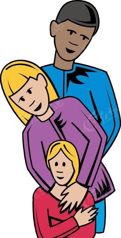 爸爸妈妈和女儿