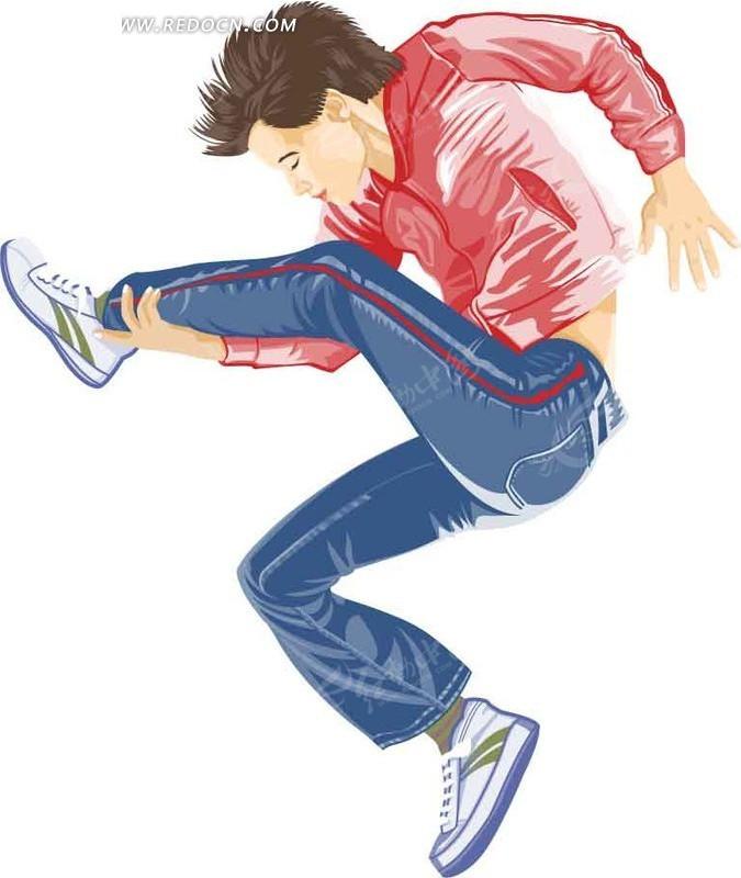 跳舞的卡通人物AI素材免费下载 编号1514506 红动网