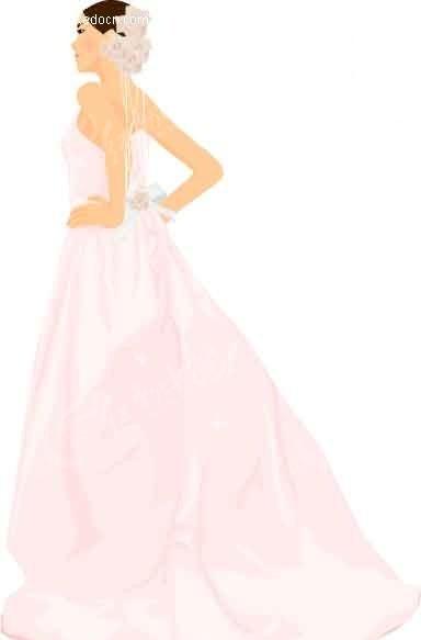 婚纱手绘和实物图对比