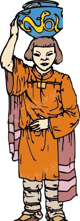 印第安人矢量图_卡通形象