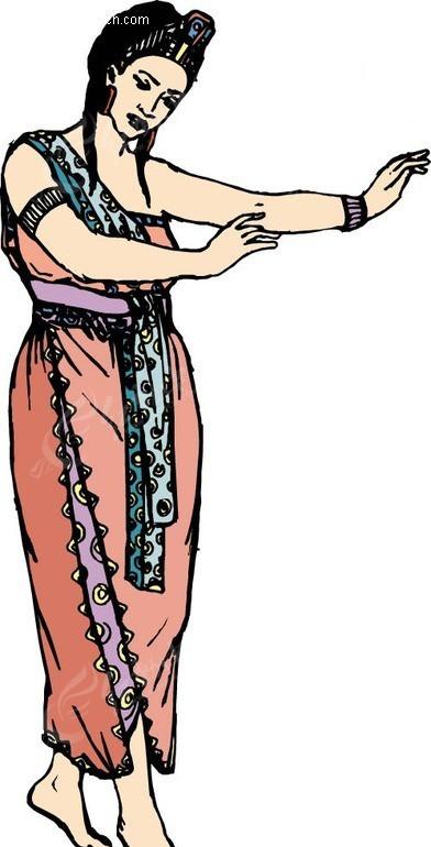 跳舞的新疆女孩