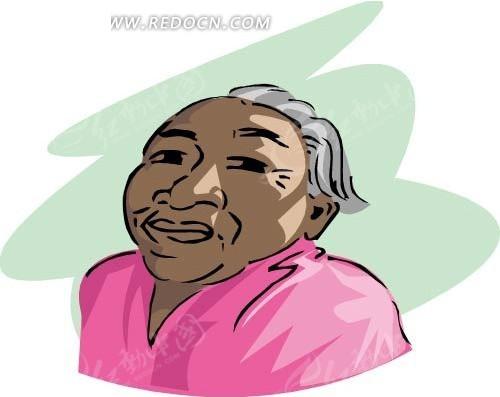 卡通画白发老人eps免费下载_女性女人素材