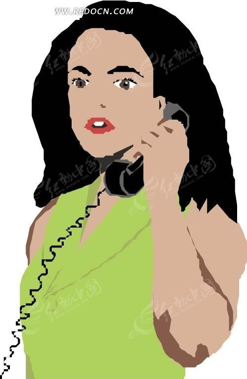 插画 手绘 矢量素材 人物图片 卡通形象 卡通人物 美女图片 女人图片