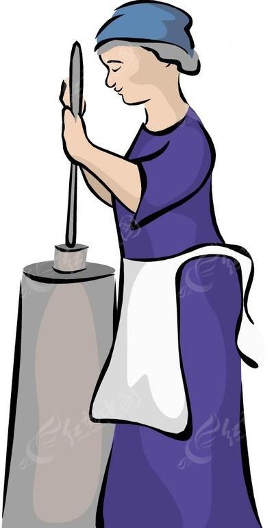 手绘围着围裙干活的女人eps素材免费下载(编号1541177