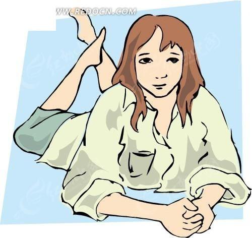 手绘 女孩 人物 人物素材 生活百科 矢量素材 eps 美女图片 女人图片