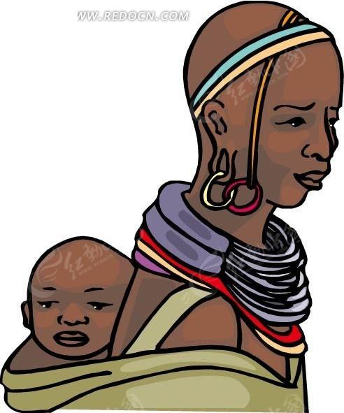 黑人西装卡通图