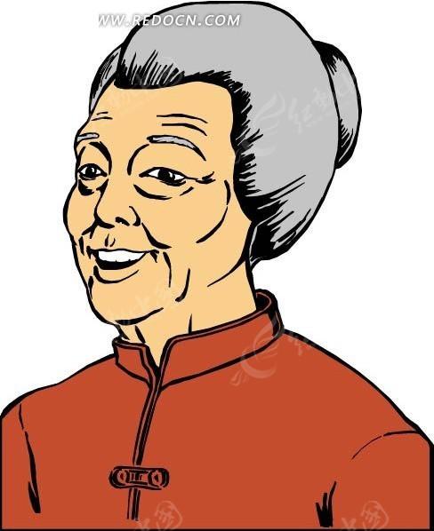 """""""老太太人物矢量""""图片;"""