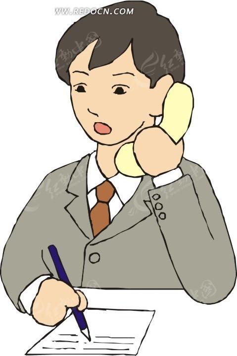 打电话的男孩