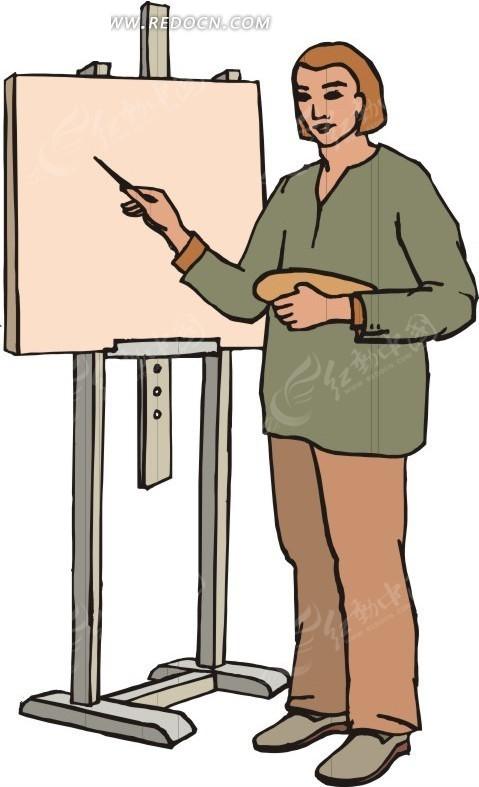 素材下载 矢量素材 矢量人物 职业人物 > 老师