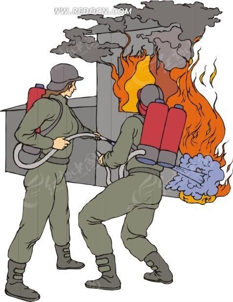 救火的消防员EPS素材免费下载 编号1542451 红动网