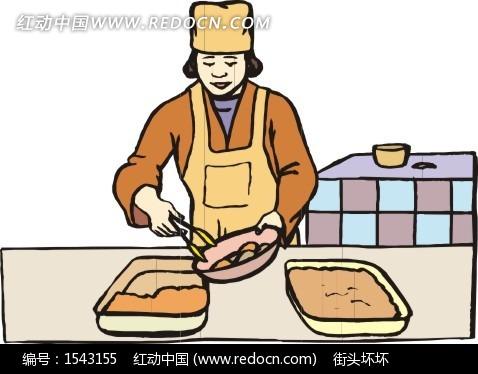 做饭的卡通人物