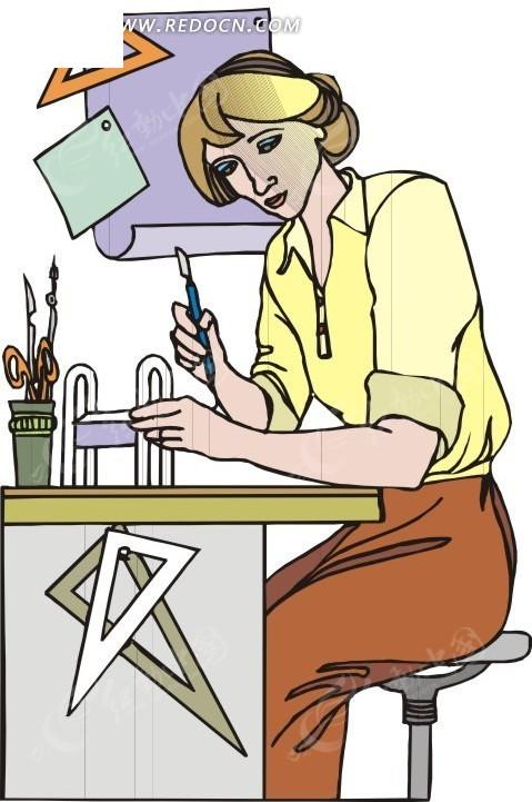 数学老师 老师 eps素材 矢量 矢量素材 插画 卡通 职业人物 人物素材