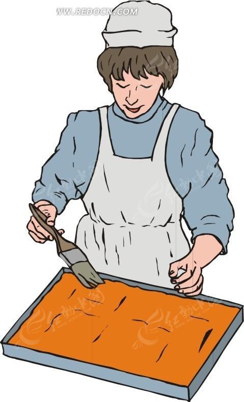 糕点师傅  eps素材 矢量 矢量素材 插画 卡通 职业人物 人物素材 人物