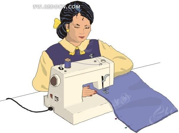 裁缝做衣服