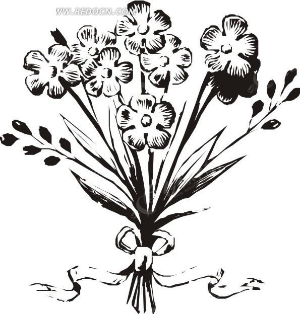 蔷薇花剪影