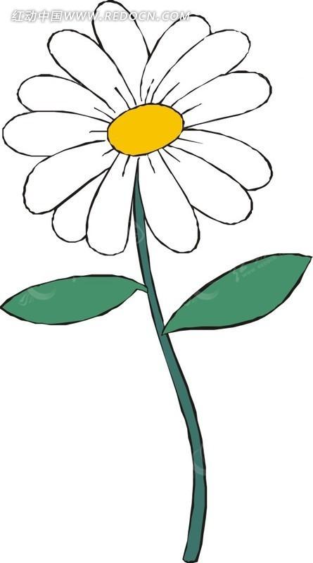 的花朵矢量图 花草树木
