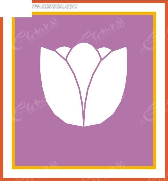 手绘郁金香花朵