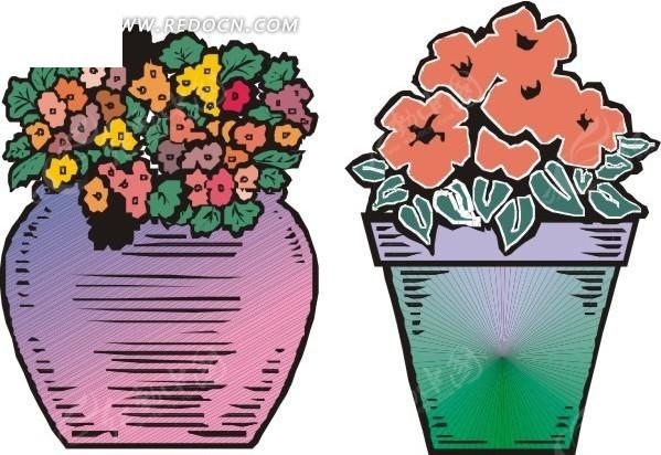 关于花瓶的手绘画