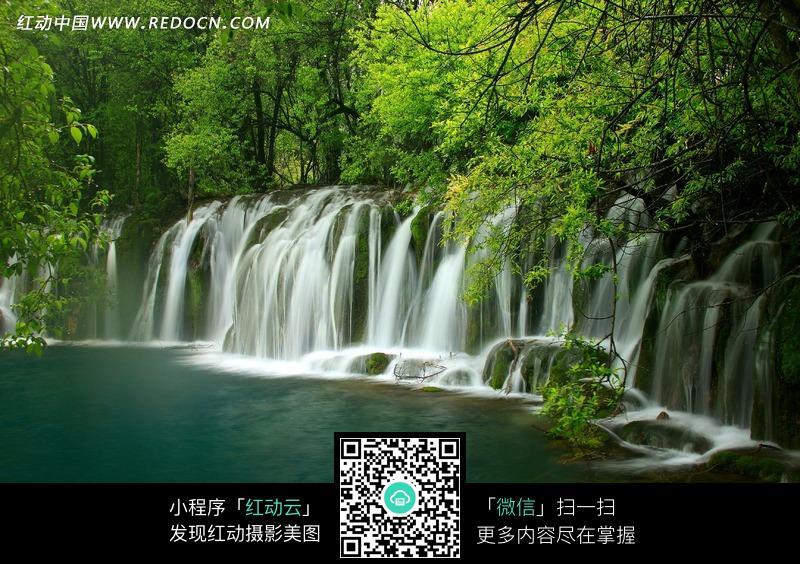 九寨沟瀑布_自然风景图片