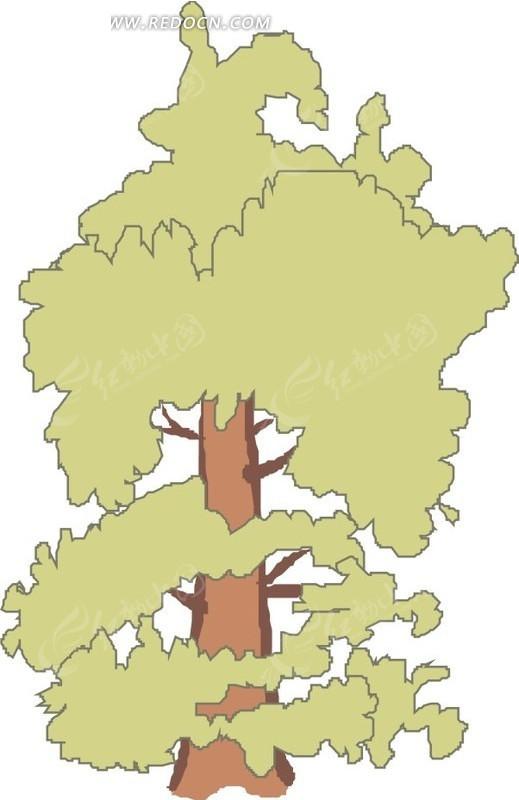 手绘地图里面的树