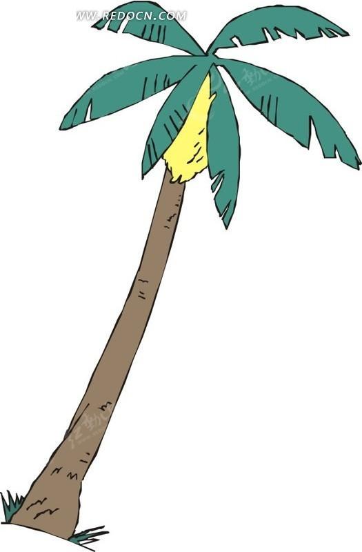 棕榈树卡通画