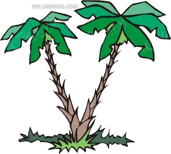 > 手绘树根长在一起的椰子树 分享即免费下载我要改图 参 数: &