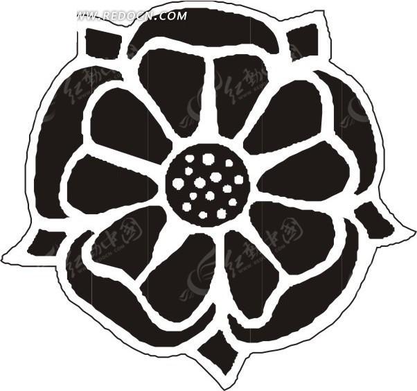 手绘黑色的花朵eps素材免费下载(编号1549753)_红动网