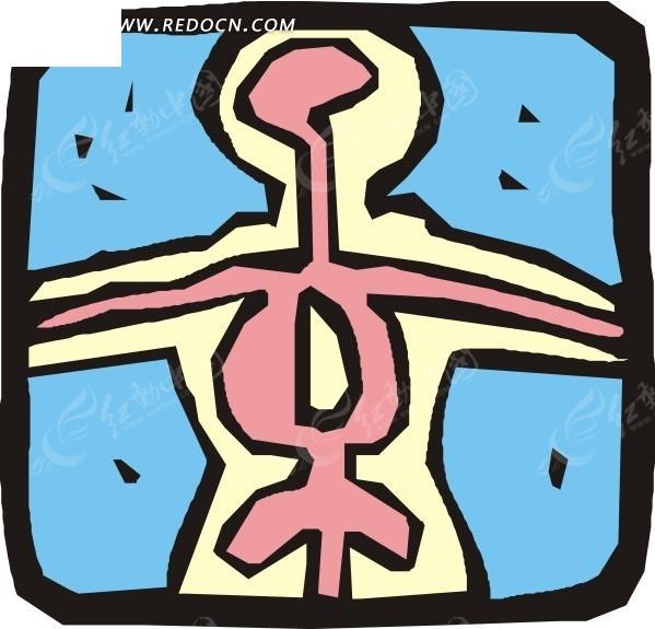 手绘人体内部器官图