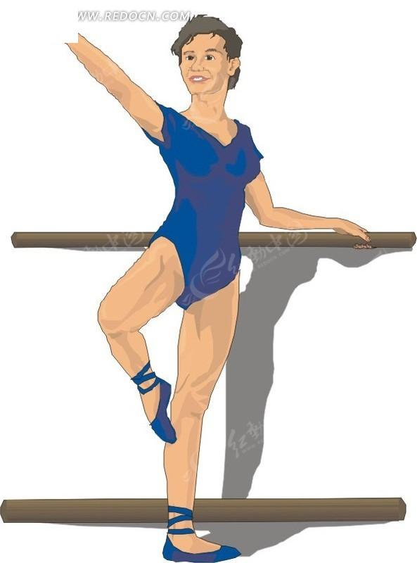 练芭蕾舞的人物