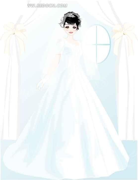 穿婚纱的卡通人物