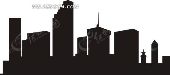 城市楼房剪影
