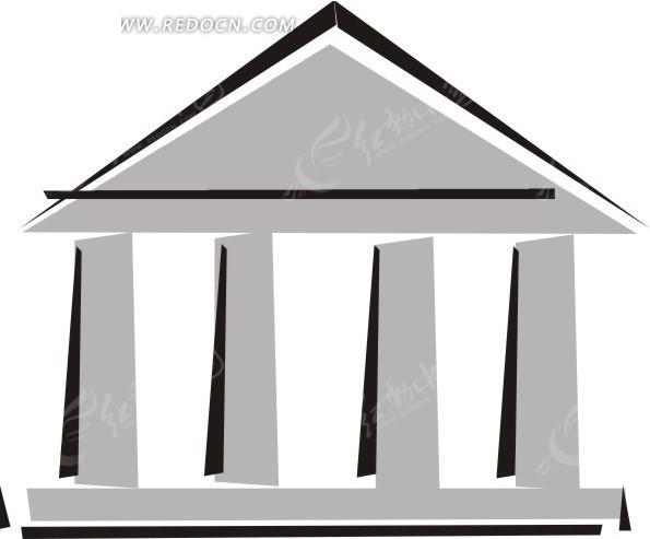 简单线描房子