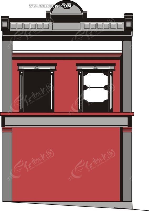 法庭 eps素材 矢量 矢量素材 插画 卡通 建筑设计 建筑图片