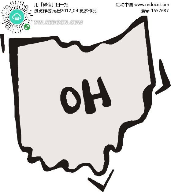 美国俄亥俄州矢量地图