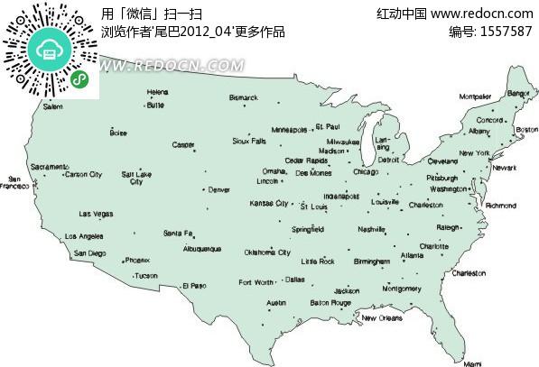 美国主要城市分布地图-生活百科;