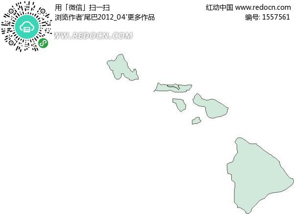 美国夏威夷州地图图片