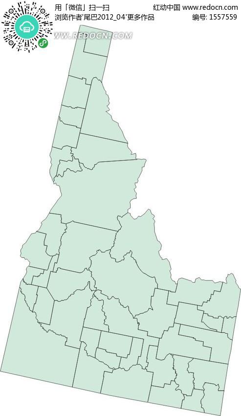 美国爱达荷州地图