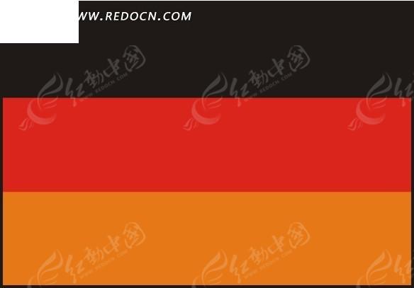 手绘德国国旗
