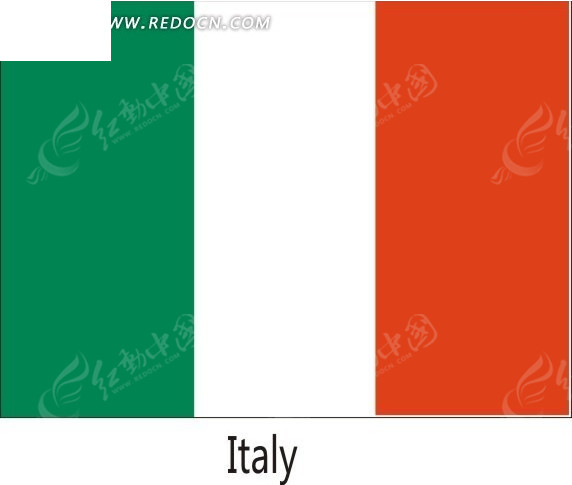 手绘意大利国旗