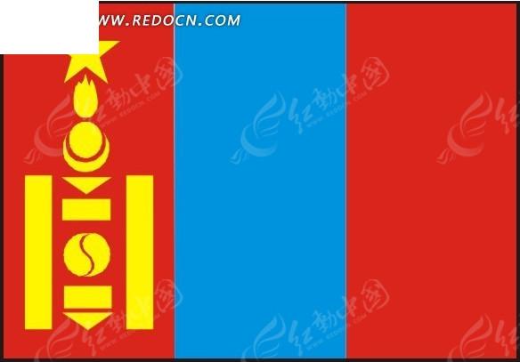 蒙古国旗矢量图eps免费下载图片