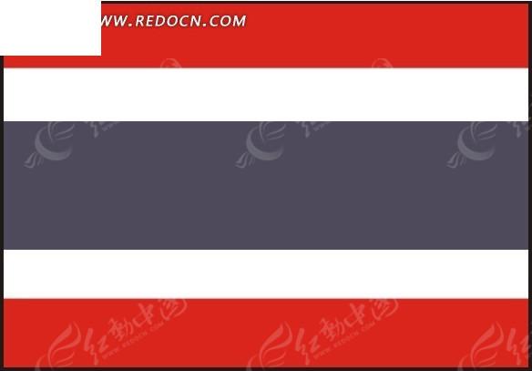 泰国矢量国旗矢量图