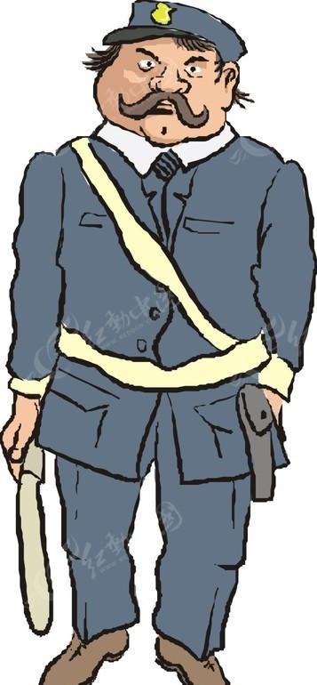 警察 交警 卡通画 插画 手绘 矢量素材 人物图片 卡通形象 卡通人物