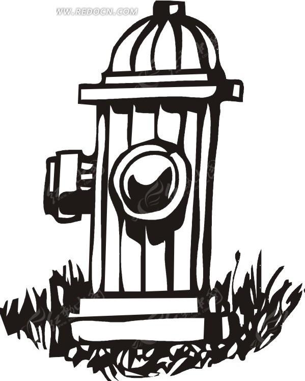 免费素材 矢量素材 矢量人物 卡通形象 消防栓
