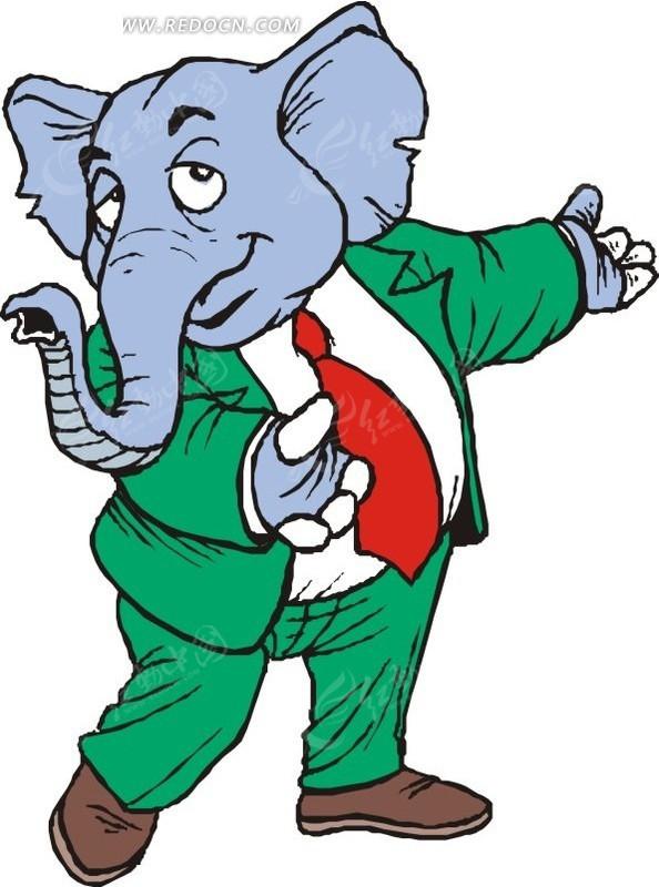 大象 卡通画 插画 手绘 矢量素材 动物图片 卡通形象 卡通人物 卡通