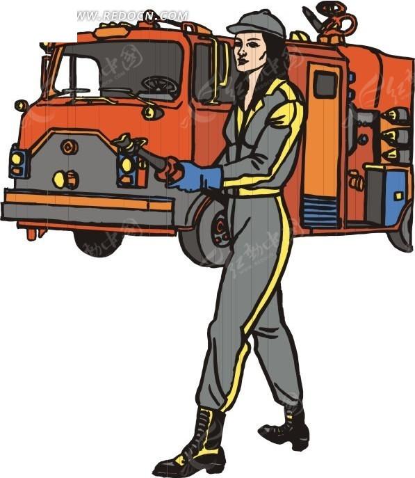 消防警  消防车