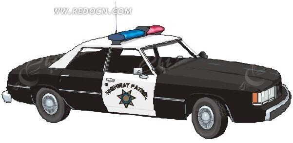 免费素材 矢量素材 矢量人物 卡通形象 手绘警车