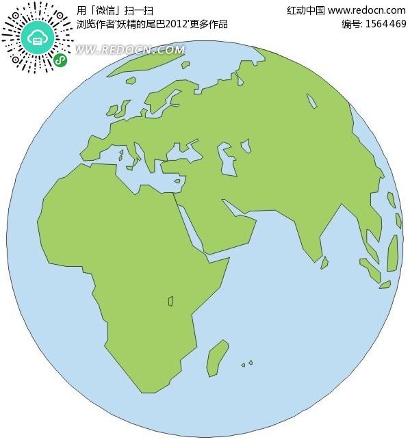 手绘地球仪上的非洲地图